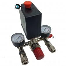 Автоматика (Прессостат) для компрессора в сборе 220В с быстросъемами
