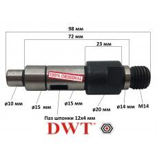 Вал редуктора болгарки DWT WS22-230T/D, WS24-230T/D