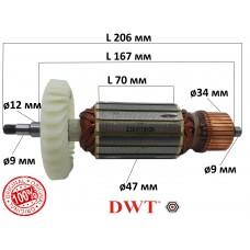Якорь болгарка DWT WS18-180T/230Т ОРИГИНАЛ
